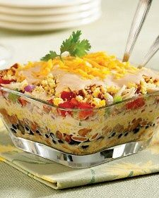 Southwestern chicken and cornbread salad...