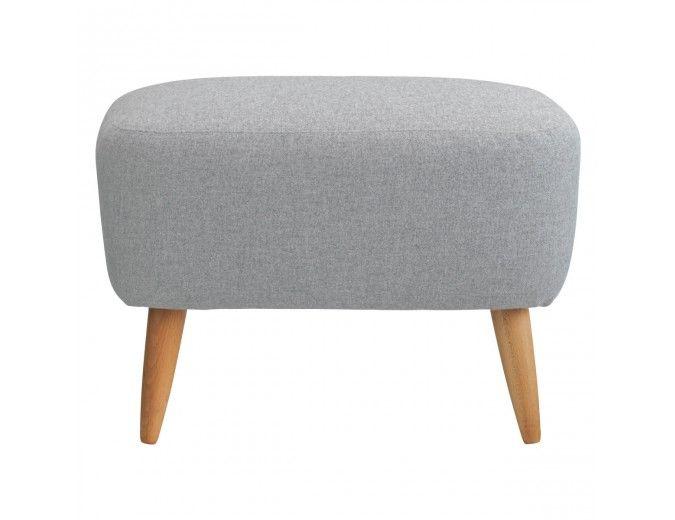 WILMOT Grey palmarola wool mix footstool
