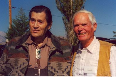 """Cheyenne"" and ""Bronco"", Clint Walker and Ty Hardin at the Pheasant Club during the Lone Pine, CA, 2003 Film Festival."