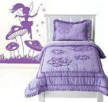 Elf Emily Wall Sticker Decals purple bedding fairy bedroom decorating