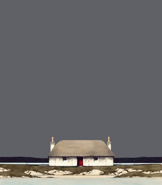 Ron Lawson, Hebridean Blackhouse. SLE Print | Scottish Contemporary Art