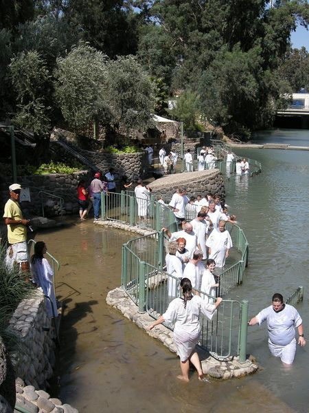 Being Baptized In The Jordan River, ISRAEL