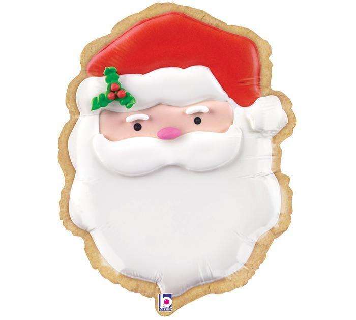 """24"""" Giant Christmas Santa Cookie Balloon"""