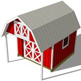 Shed With Porch Plans | 12x16 Gambrel Shed Plans | 12x16 barn shed plans
