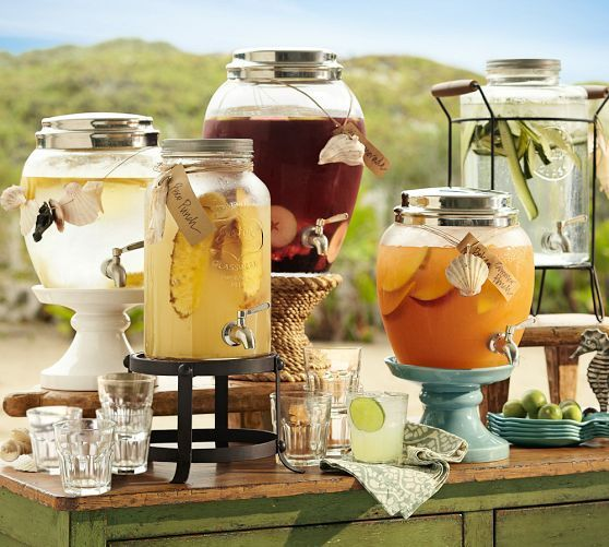 Can buys these drink dispensers at Ross, or other similar stores. Good to have plenty of drinks for your guests (including non alcoholic and adult bev)
