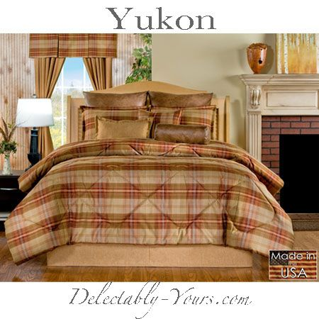 Delectably Yours Decor Yukon Lodge Plaid Bedding #Comforter #Duvet or #Daybed Set #DelectablyYours #Bedding #Southwestern #Cabin #Lodge #Decor