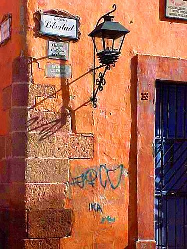 Queretaro Mexico street corner