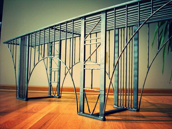 ZZIV Bridge Bench  / Coffee Table Handmade Steel by ZZIV on Etsy, $950.00