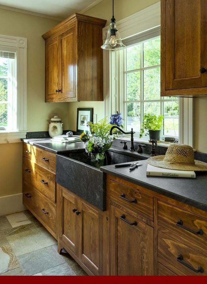 Different Types Kitchen Remodel With Golden Oak Cabinets Rustic Kitchen Cabinets Rustic Kitchen Kitchen Cabinet Design