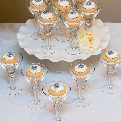 146 best dessert table images on pinterest candy for Mini martini glass dessert recipes