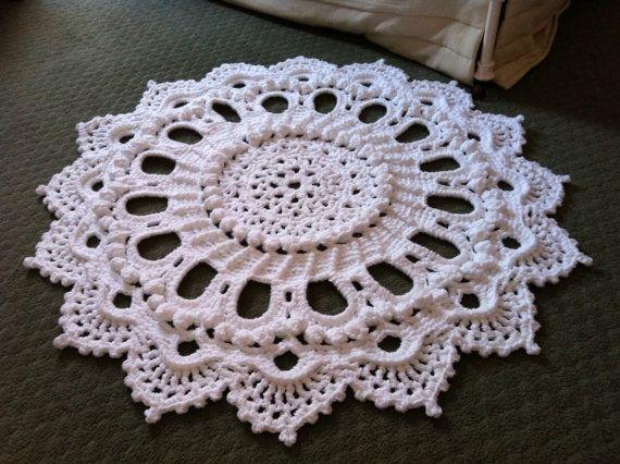 Amazing Crochet Doily Rug Splendid Handmade by MissyDDesigns. Design by Patricia Kristoffersen