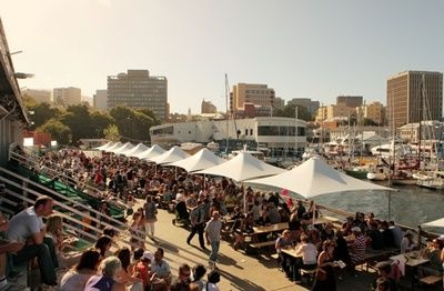 Taste of Tasmania Festival at the same time as Sydney to Hobart Yacht Race, Hobart comes alive!