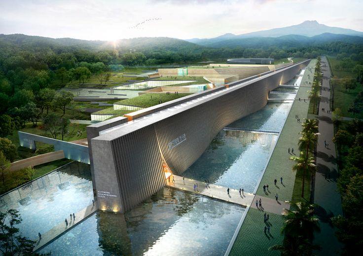 Jeju Stone Park Seolmundaehalmang Museum in Korea by Samoo Architects