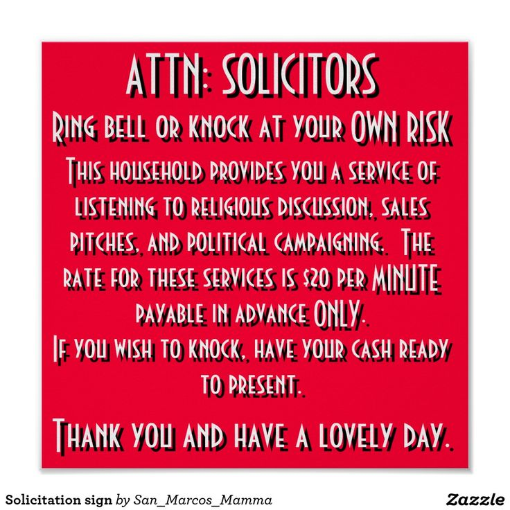 no soliciting sign - Google Search