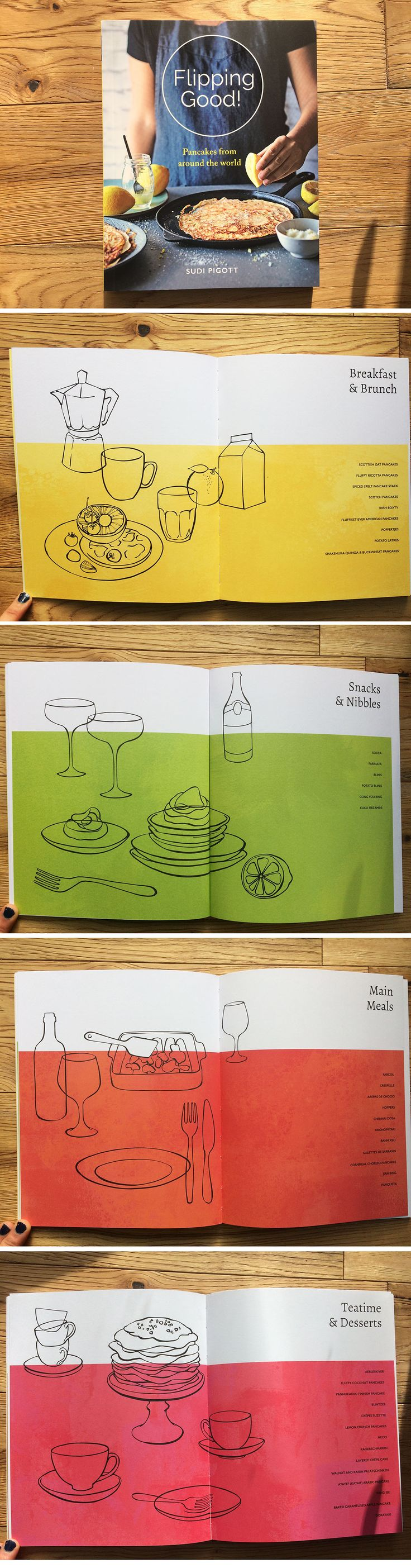 Chapter openers for Kyle Books cook book packed with pancake recipes from around the world