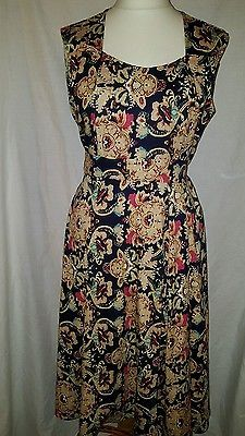 Joe Browns Tea Dress Vintage 40's Style Floral Size 16 Designer dress