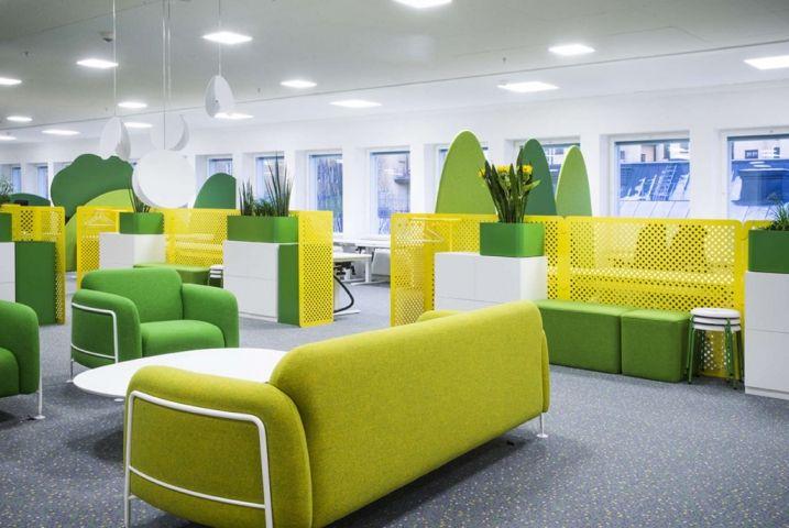 Open Space jaune et vert