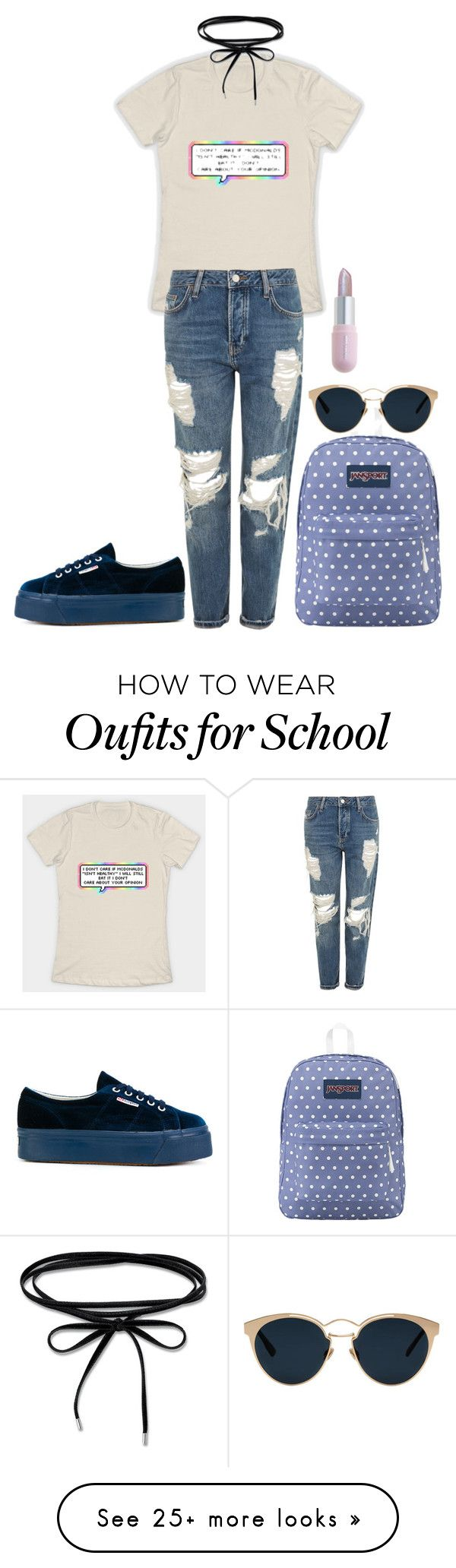 """Без названия #2660"" by dark-nice-snow on Polyvore featuring Topshop, JanSport, Superga, Christian Dior and Winky Lux"