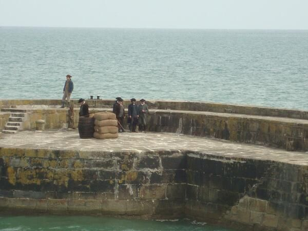 Via  Nicola Rowe @Nicola Rowe  More #Poldark filming with #AidanTurner in Charlestown