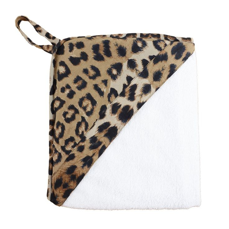 Leopard Hooded Towel. Bath and swim time has never looked so cute with our bold print hooded towels. Made from a super soft terry towel complete with a 100% cotton hood. www.wildandbliss.com