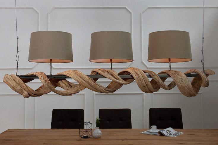 Velká závěsná lampa s dřevem VIRGINIA. Lampy a svítidla reaction.
