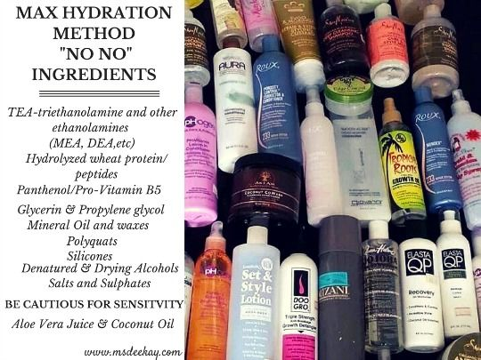 The list of the Max Hydration No NO ingredients and explanations.