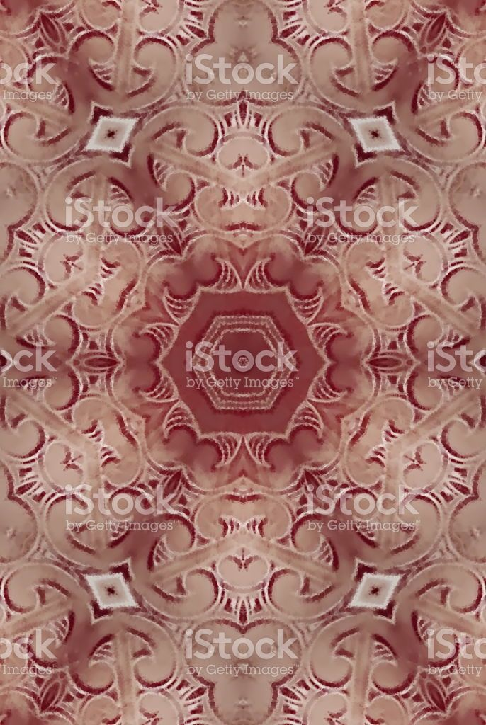 Maori Carving Inspired Mandala royalty-free stock photo