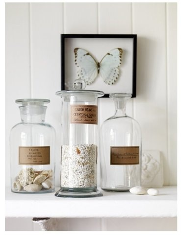 Apothecary Jars Large : Beach House, Apothecary Jars, Inspiration, Jars Large, Butterflies, Glass, Accessories, Bathroom, Apothecaries