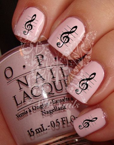Music Nail Art Music Notes Nail Water Decals Transfers Wraps