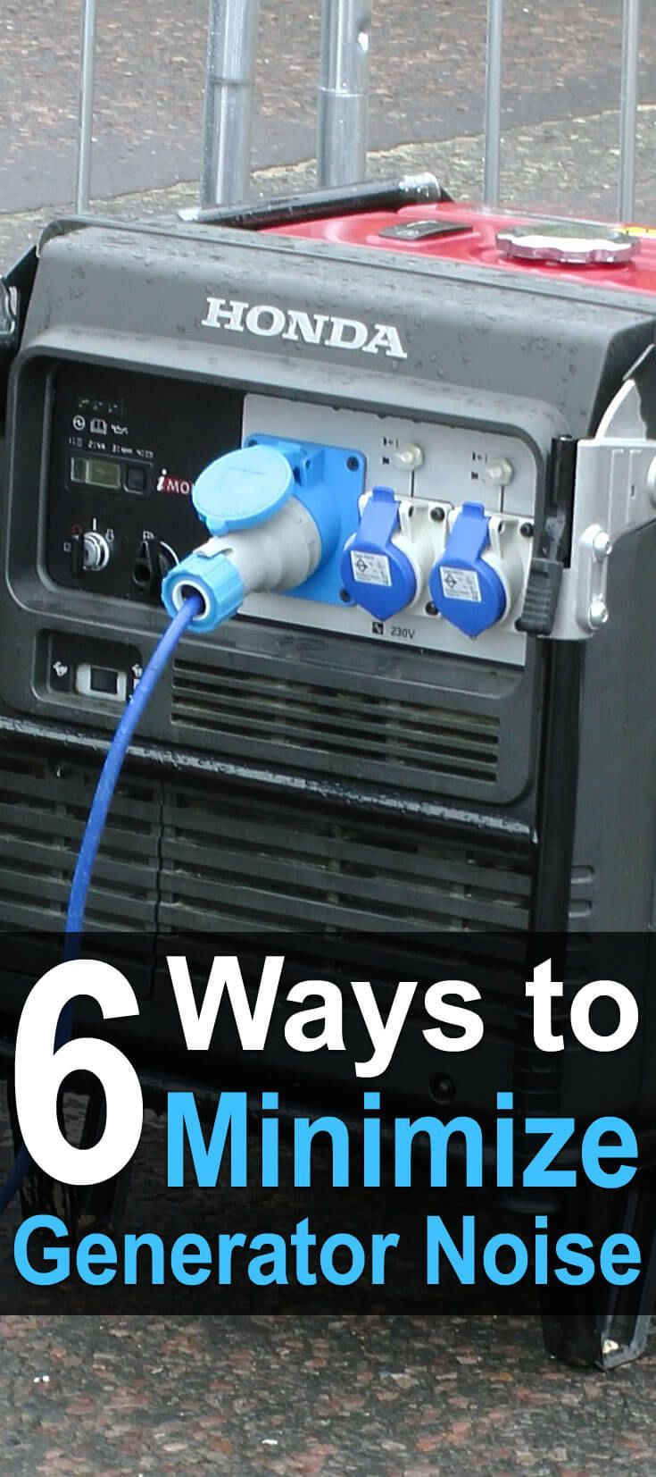 5 Ways to Minimize Generator Noise | For. the. RV | Pinterest ...