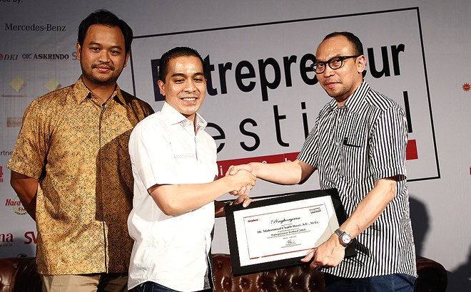 Bpk Chatib Basri was one of the keynote speakers @ Entrepreneur Festival 2013