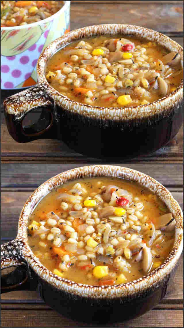 Barley Soup is a hearty and healthy, flavorful comfort food that is perfect for any time of the year. #vegan #spicy #delicious #flavorful #soup #dinner #Lunch #weightloss #diet #party