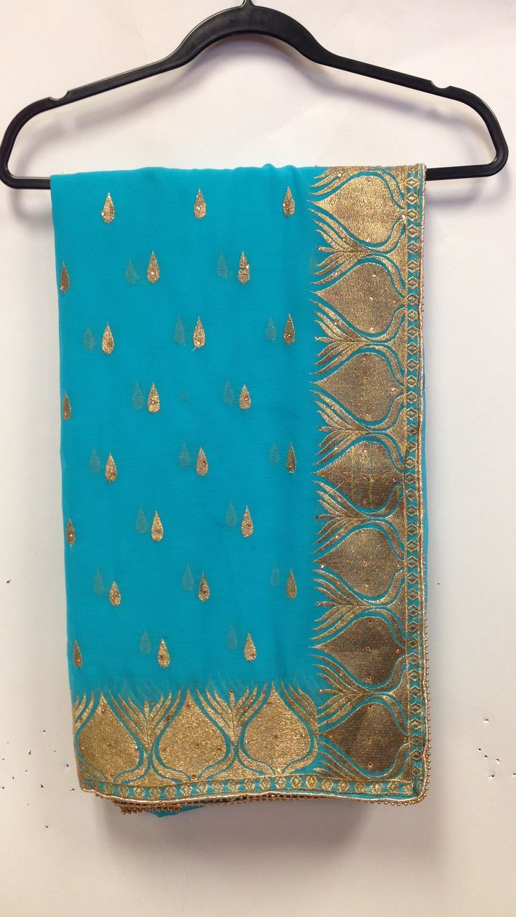 Chiffon party wear saree is crafted with heavy zari, resham embroidery with squince, stone work and lace border makes this indian apparel to die for These party wear chiffon Saree with golden zari res