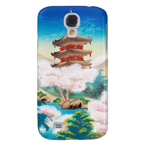 Keisui Pagoda in Spring japanese oriental scenery Samsung Galaxy S4 Cases