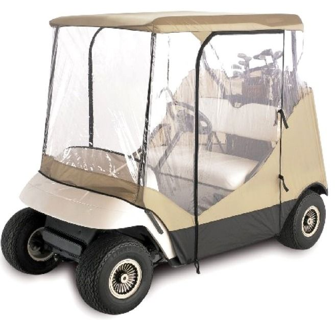 Electric Golf Cart Covers 2 Passenger Rain Cover Ezgo 4-Sided Golf Cart Travel E #EZGO