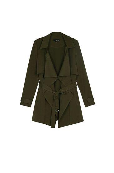 Grüner, moderner Trenchcoat #newin #trenchcoat #olivegreen #TALLYWEIJL