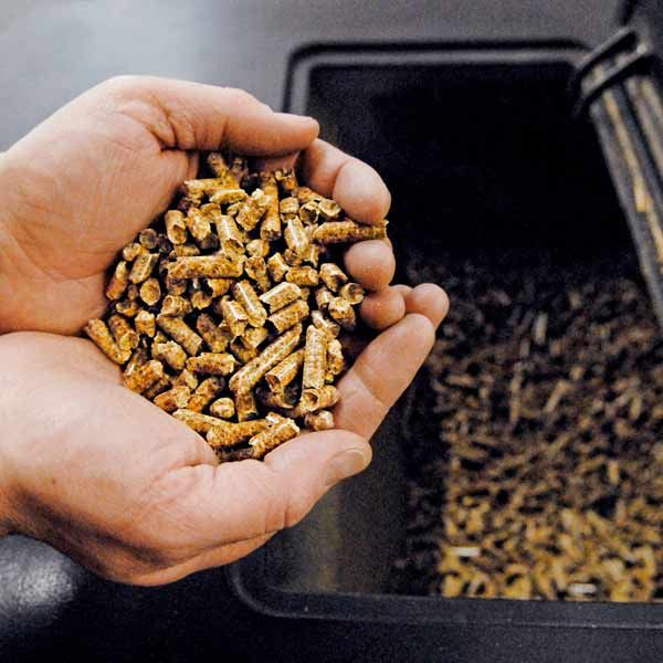 All About Pellet Stoves   -  What is a Pellet? - It's a small pill made of wood waste, mostly sawdust. Pellets have a low moisture content, 5 to 10 percent, compared with 20 percent for seasoned firewood. In some regions, you may find pellets made of switchgrass or cornstalks. Corn kernels can also be used in lieu of pellets.
