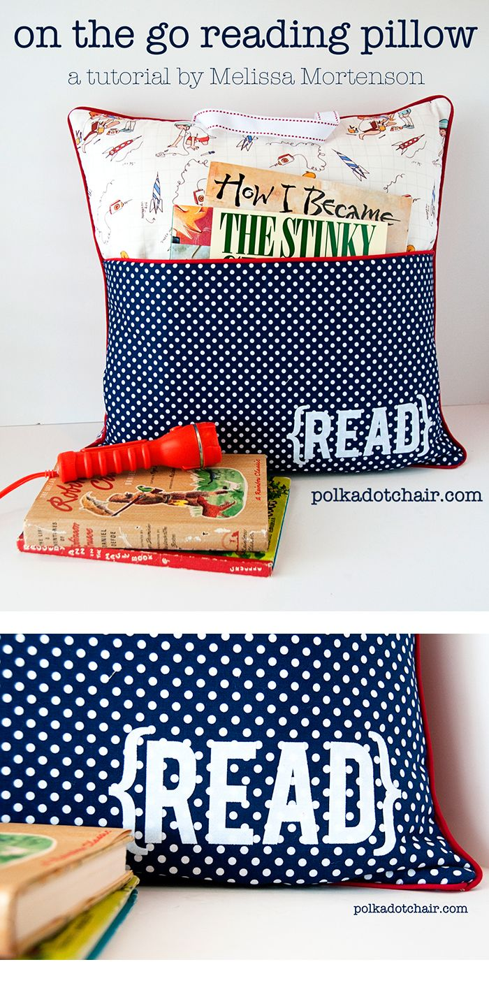 Pocket Pillow Sewing Pattern on Polka Dot Chair Blog