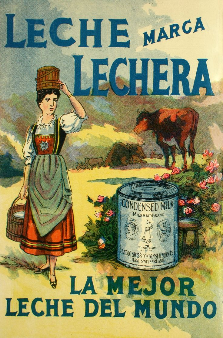 Aviso Leche Condensada Lechera  Año: 1912  Autor: Imprenta Editorial Zig-Zag…