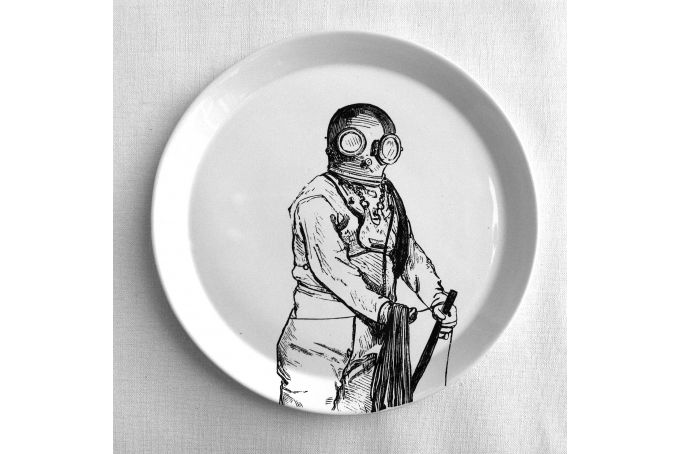 Divingman dinner Plate by Studio Number 19 on hellopretty.co.za