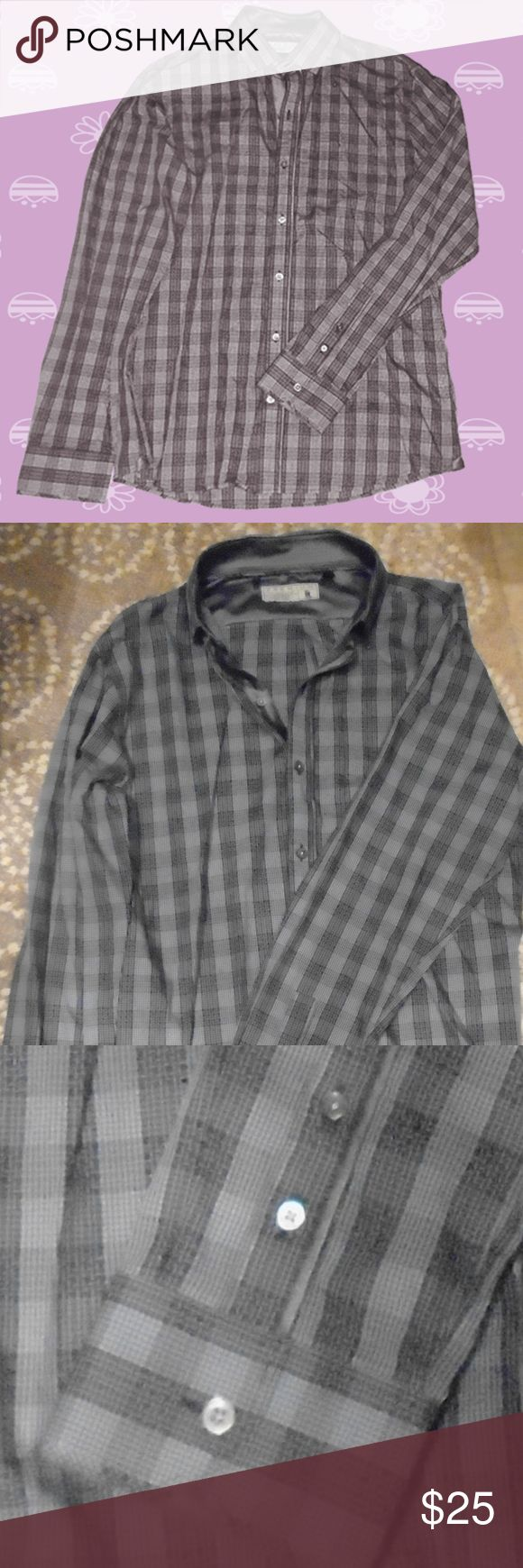 7Diamonds Premium Men's Shirt - Size M - Taupe EUC 100% Cotton, Machine washable - dark taupe (gray/brown). Very fine quality in like new condition. 7 Diamonds Shirts Casual Button Down Shirts