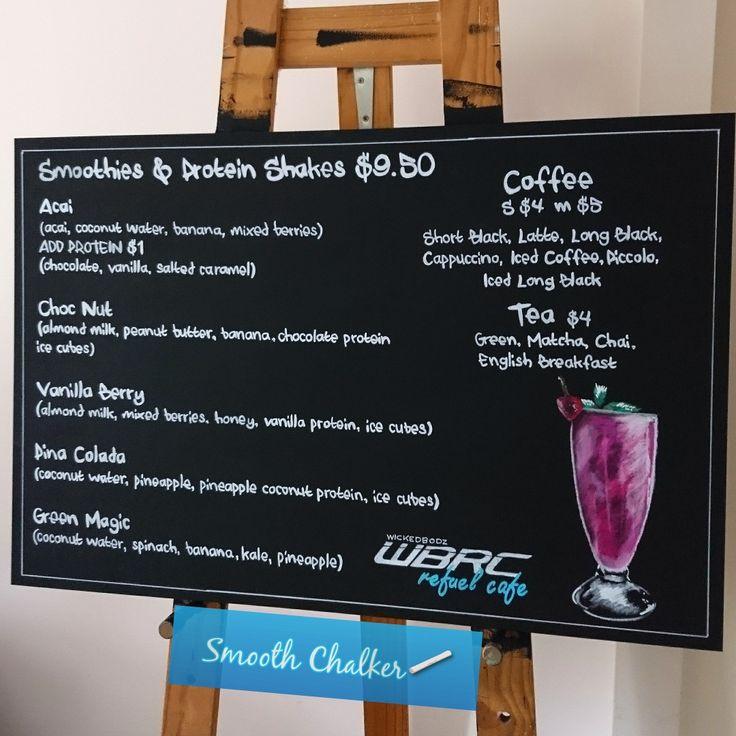 Smoothies chalkboard menu