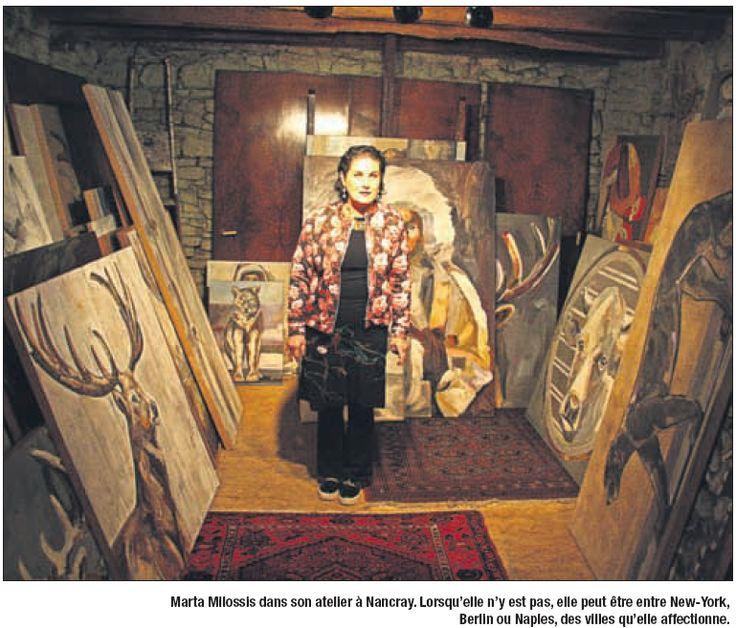 Marta Milossis dans son atelier #MartaMilossis