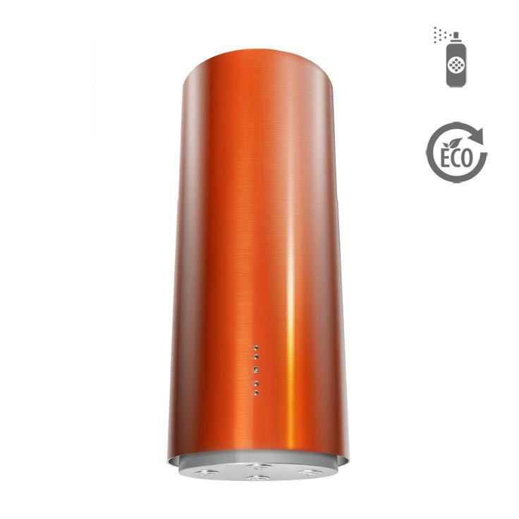 Okap wyspowy Ciarko Design ORW Color pomarańczowy http://www.sklep.ciarkodesign.pl/e-sklep/okapy-wyspowe/or-w-color-orange-detail  #DESIGN #KitchenIsland #OKAP