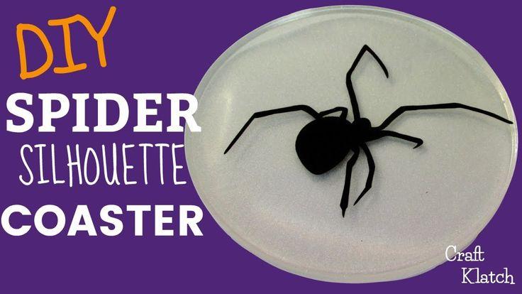 DIY Halloween Spider Silhouette Coaster