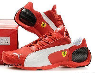Ferrari кроссовки красные