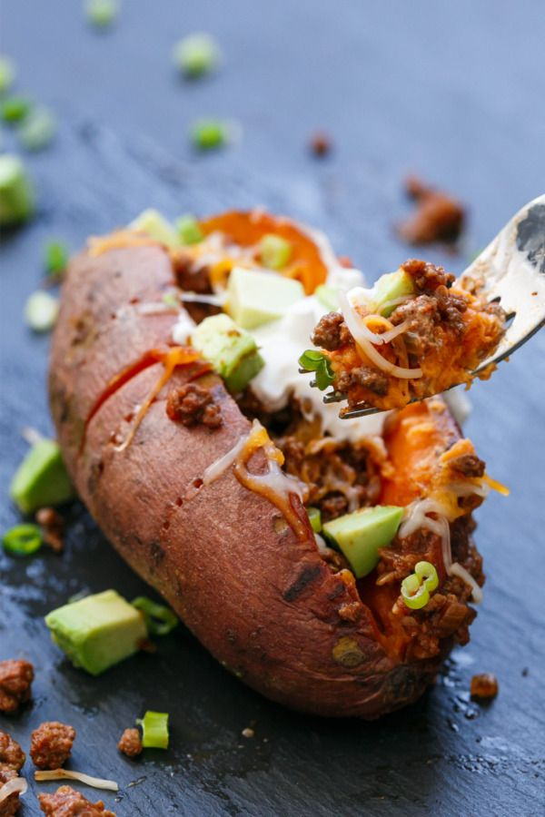 Easy & Delicious Dinner Recipe Idea: Taco-Stuffed Sweet Potatoes