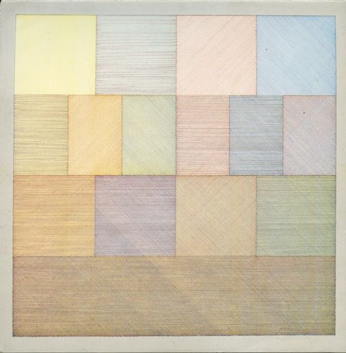 """Sol LeWitt - """"Wall Drawing #85"""", June 1971  /// probably sacrilege to say so, but this would make a beautiful and simple quilt."""