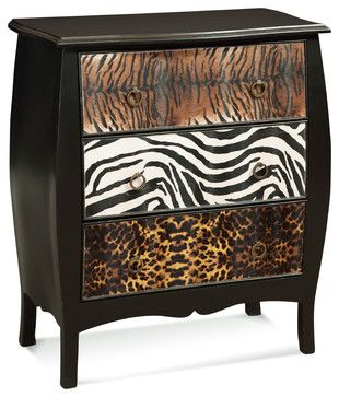 Safari Chest eclectic dressers chests and bedroom armoires  A great project for old pieces of furniture