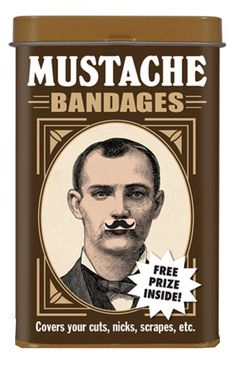 funny mustache bandage cute guy gift novelty first aid